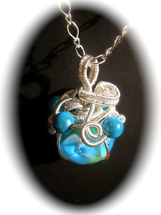Pendentif perle emprisonnée dans Pendentifs perles-emp